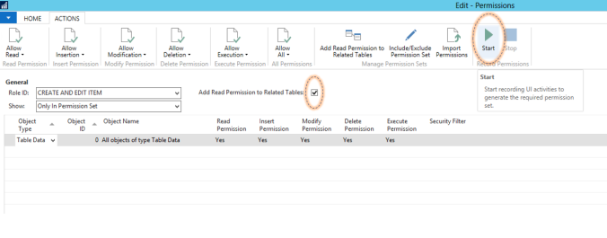 """How to Use """"Record Permissions"""" in Dynamics NAV"""