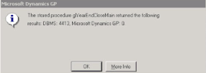 """Year End Closing - Query Timeout Expired Error 
