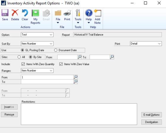 HITB Report Modification