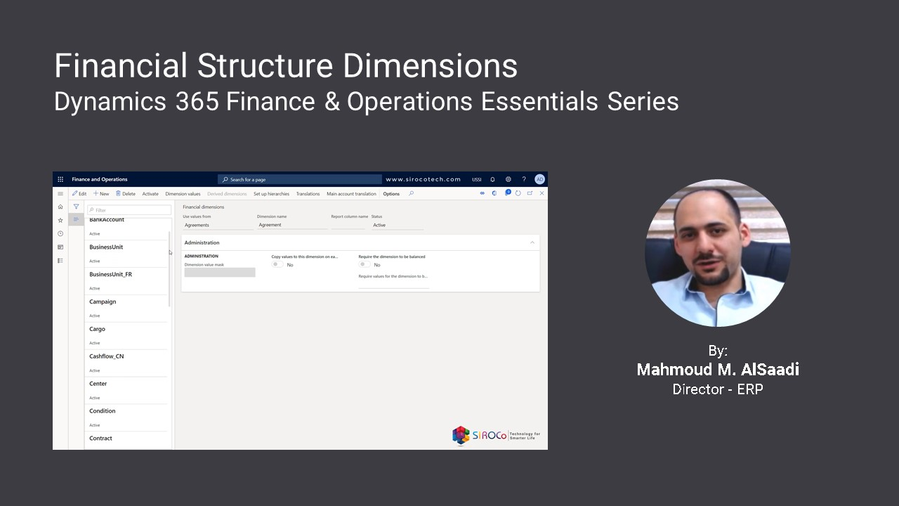 Dynamics 365 Finance & Operations